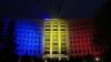 Lumină şi culoare! Spectacol GRANDIOS în scuarul Legislativului cu ocazia zilei Drapelului de Stat (VIDEO)