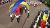Dansul dedicat tricolorului, organizat de studenţii Colegiului Naţional de Coreografie (VIDEO)