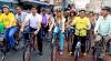 Bicicliştii din Manila au ieşit pe străzi pentru a promova transportul ecologic