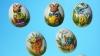 Bucurie pentru copii: Zeci de mii de cutii în formă de ou, cu dulciuri, aruncate din elicopter