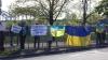 Protest la Riga. Manifestanţii AU SCANDAT faţă de agresiunea Rusiei în Ucraina (VIDEO)