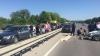ACCIDENT GRAV la Stăuceni. Au fost implicate mai multe maşini (FOTO/VIDEO)