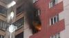 INCENDIU la Buiucani. La faţa locului au intervenit trei autospeciale ale pompierilor (VIDEO/FOTO)