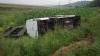 ACCIDENT GRAV la  Fălești. Un microbuz s-a răsturnat, iar şoferul a murit (FOTO)