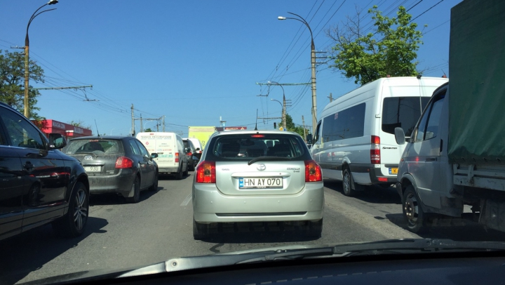 InfoTrafic: Străzile din Chişinău aglomerate la această oră. Cum se circulă