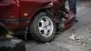 Ambuteiaje la Sângera din cauza unui accident. Un automobil a fost făcut zob (VIDEO)