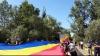 Eveniment deosebit la Prut. România și Moldova, unite de un tricolor imens