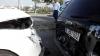Accident pe un bulevard important din Capitală. Două maşini s-au ciocnit frontal (VIDEO)