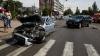 CARAMBOL DE GROAZĂ pe un bulevard din Chişinău! O groapă în asfalt a apărut din cauza accidentului (FOTO/VIDEO)
