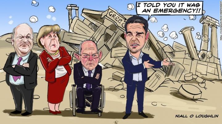 Benzi desenate despre criza din Grecia (GALERIE FOTO)