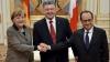 Unica soluţie! Ce au declarat Hollande, Merkel şi Poroşenko în urma întâlnirii de la Berlin