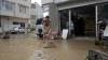 Inundaţii în câteva oraşe de pe malul Mării Negre. Străzile s-au transformat în râuri