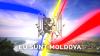 """S-a dat start campaniei """"Eu sunt Moldova"""". Drapelul de stat, arborat într-o localitate din nordul ţării"""