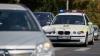 O maşină a poliţiei, parcată incorect pe o stradă din Capitală. Şoferul va fi sancţionat (VIDEO)