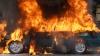 Automobil cuprins de flăcări. O maşină de de lux a fost făcută scrum noaptea trecută