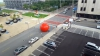 O MINGE GONFLABILĂ URIAȘĂ, furată de vânt a creat panică și amuzament pe strazile unui oraș