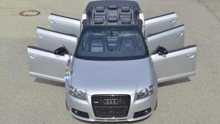 Audi a transformat un cabriolet A3 într-o limuzină cu şase uşi (FOTO)