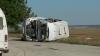 IMAGINI VIDEO surprinse la câteva minute de la accidentul tragic de la Ungheni