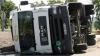 ACCIDENT GRAV lângă Peresecina: Un camion încărcat cu 21 de tone de floarea soarelui s-a răsturnat (VIDEO)