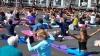 Maraton de yoga la Chişinău. Amatorii şi profesioniştii au asimilat tehnici noi