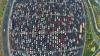 Cum arată un AMBUTEIAJ pe o autostradă cu 50 de benzi din China. Imaginile te vor lăsa cu gura căscată