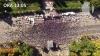 (VIDEO) Protestul de azi, văzut de la înălţimea zborului de dronă