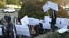 PROTESTE la Judecătoria Buiucani! Unii manifestanţi cer eliberarea lui Filat, alţii - condamnarea (VIDEO)