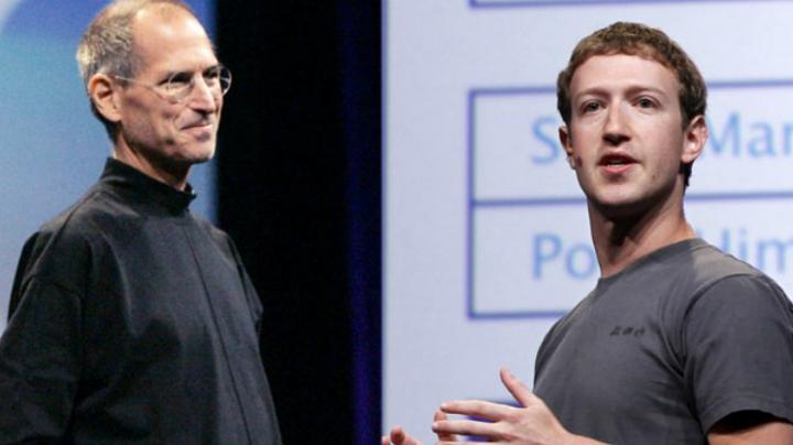 Sfatul prețios dat de Steve Jobs lui Mark Zuckerberg. Detaliul istoric care a salvat soarta Facebook