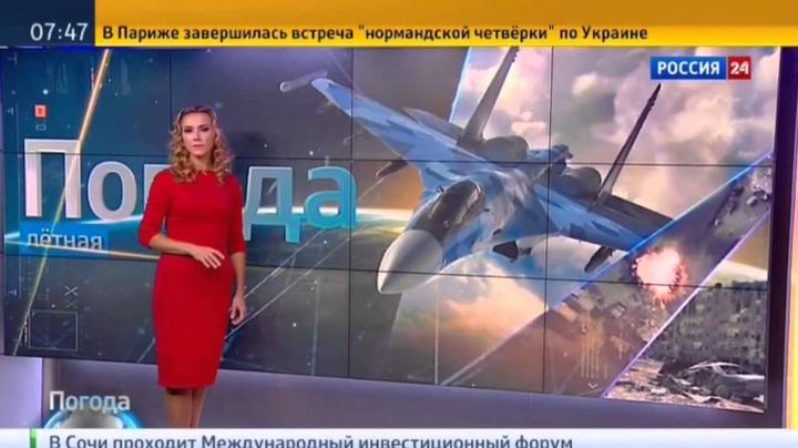 """""""Vreme bună pentru BOMBARDAMENT"""". Buletinul meteo de la canalul Rossia24 i-a ȘOCAT pe telespectatori"""