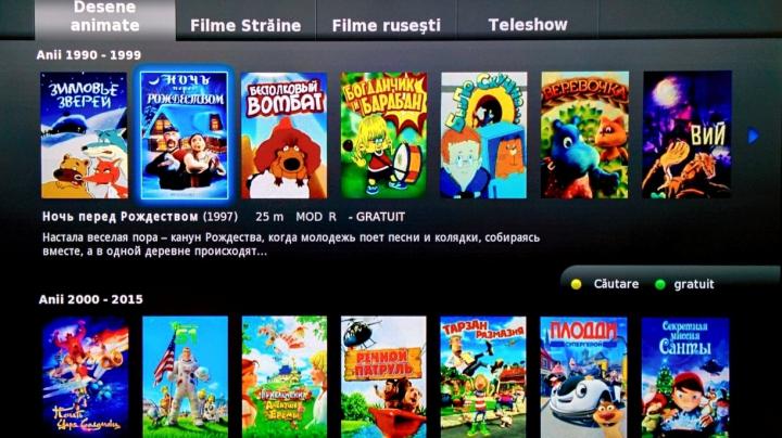 (P) Filme, teleshow-uri, seriale, desene animate. La televizor. Fără publicitate