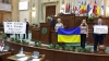 Protest cu deputaţi ucraineni în Parlamentul României, în timpul discursului lui Serghei Narîşkin (VIDEO)