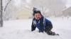 A NINS ABUNDENT. Stratul de zăpadă ajunge până la jumătate de metru (VIDEO)