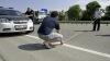 O MAŞINĂ CU BANI S-A RĂSTURNAT la Soroca. Poliţia a intervenit pentru a escorta încasatorii