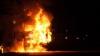 ALERTĂ la Făleşti! Un camion încărcat cu materiale de construcție a luat foc în mers (VIDEO)