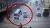 ACCIDENT CIUDAT. Trei automobile s-au lovit în aer într-o intersecţie (VIDEO)