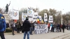 MARŞ la Chişinău. Participanţii au cerut formarea unui Guvern comun pentru RM şi România (VIDEO)
