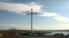 O cruce metalică, a doua ca înălţime din ţară, a fost inaugurată pe o colină din satul Molovata (VIDEO)