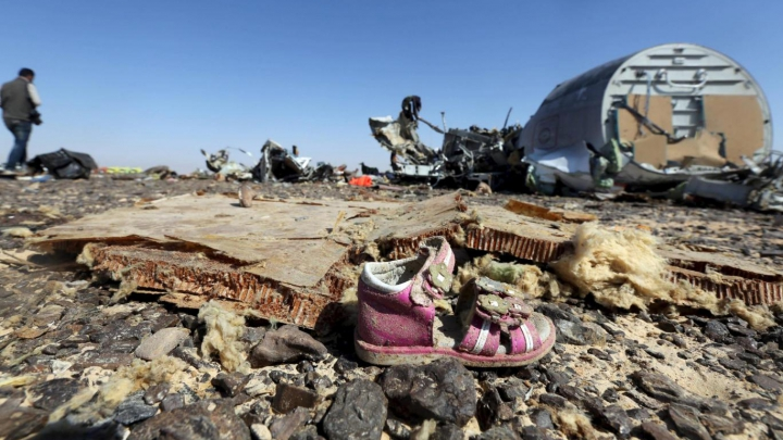 Catastrofa aviatică din Egipt: Avionul rusesc prăbușit nu a fost lovit din exterior