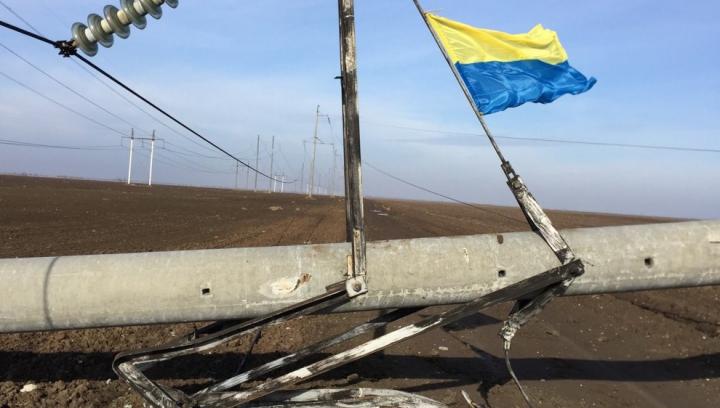 Activiştii ucraineni au blocat accesul către liniile electrice avariate din Crimeea