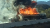 IADUL s-a dezlănţuit pe o autostradă din California după ce o cisternă cu benzină s-a răsturnat