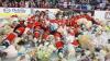 Record absolut! Suporterii au aruncat peste 28.800 de ursuleţi de pluş în timpul unui meci de hochei