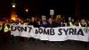 Protest de amploare la Londra! Oamenii protestează împotriva intervenţiilor în Siria