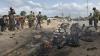 Atac în Somalia. Trei oameni au murit în explozia unei maşini-capcană
