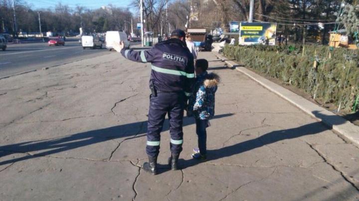 COPII pierduţi în PMAN. RECOMANDĂRILE poliţiştilor pentru părinţi (FOTO)