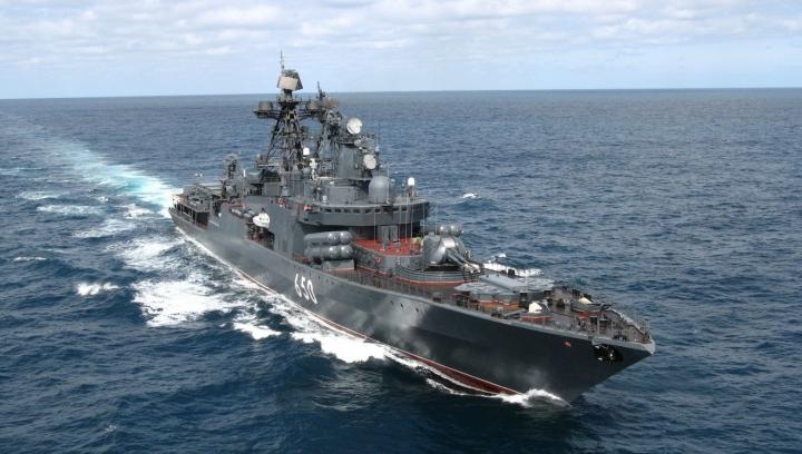 Un nou conflict mocneşte? MOTIVUL pentru care Moscova a trimis o navă militară în Marea Neagră