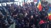 Protestele au paralizat circulaţia rutieră din centrul Chişinăului