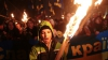 """""""Glorie Ucrainei!"""" MOTIVUL pentru care mii de ucraineni au mărşăluit pe străzile Kievului cu torțe şi steaguri în mâini"""
