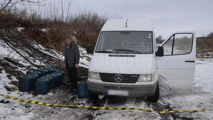 Prinşi în flagrant! Patru bărbaţi au furat circa o tonă de combustibil dintr-un tren marfar (FOTO)