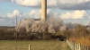 Explozie la o centrală electrică! O parte din clădire s-a prăbușit, provocând victime (VIDEO)