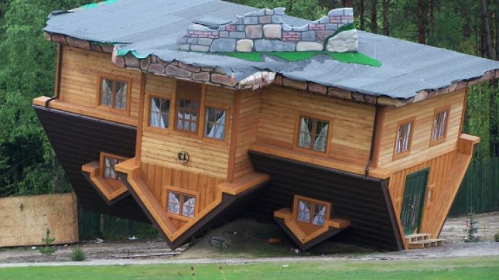 Nu e o greșeală de proiect! În Taiwan a fost construită o locuință cu susul în jos
